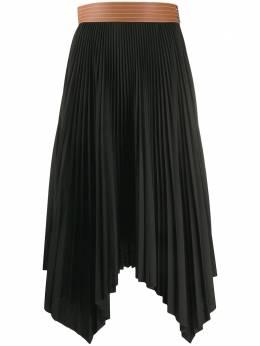 Loewe плиссированная юбка с асимметричным подолом S2105360FA