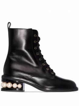Nicholas Kirkwood ботинки Casati Pearl 35 со шнуровкой 903A25VLS1
