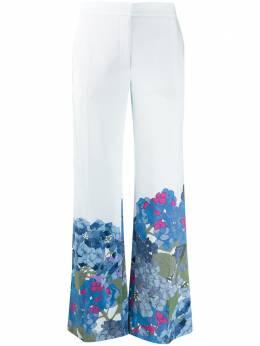 Valentino расклешенные брюки с принтом TB3RB3L557D