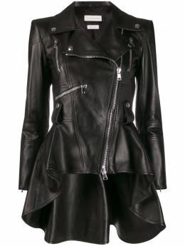 Alexander McQueen куртка с баской 585023Q5AB5