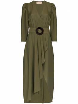 Adriana Degreas платье с запахом и поясом VTMI0119V20