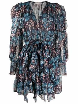 Ulla Johnson платье мини Natalia с цветочным принтом PS200112