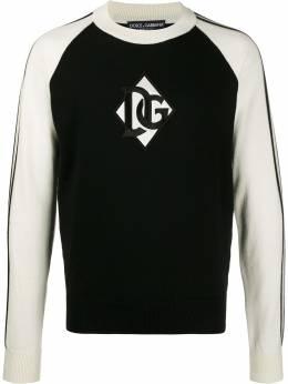 Dolce&Gabbana джемпер с нашивкой-логотипом GX861ZJAVTI