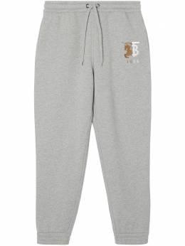 Burberry спортивные брюки с контрастным логотипом 8025652