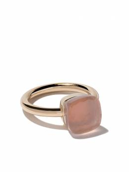 Pomellato 18kt rose & white gold Nudo rose quartz ring AA110O6QR