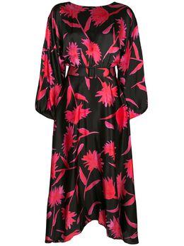 Saloni платье миди с принтом 10245