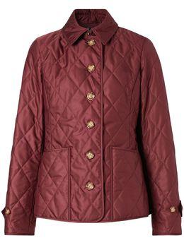 Burberry стеганая приталенная куртка 8023322
