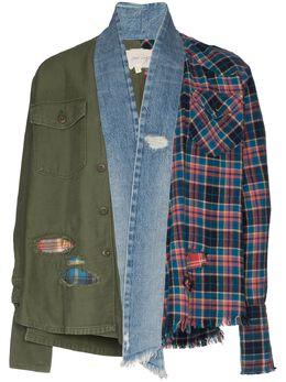 Greg Lauren куртка в технике пэчворк SS20M128