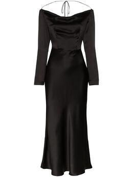 Materiel платье миди с открытой спиной MR2LAN825DRBK