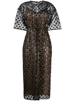 Marco De Vincenzo прозрачное платье с узором в горох MD5482MDVNY02