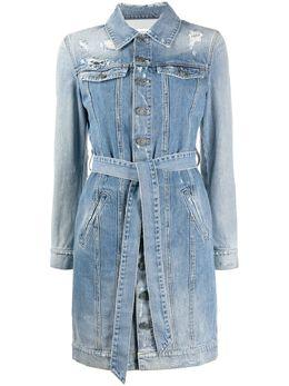 Givenchy джинсовое платье-рубашка с эффектом потертости BW20TX50D1