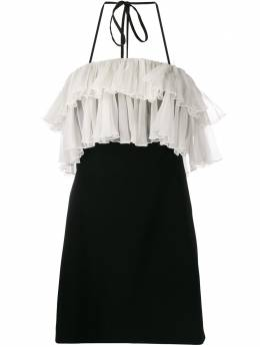 Alexis платье мини с оборками и вырезом халтер A41903265830