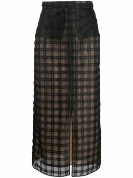 Marco De Vincenzo полупрозрачная юбка из тюля в клетку MQ5221MDVTP01