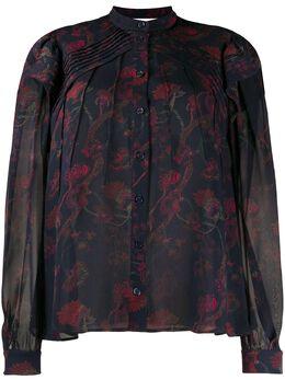 Chloe шифоновая блузка с принтом CHC20SHT19321