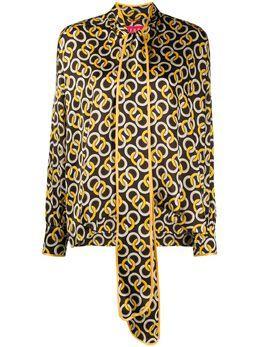 F.R.S For Restless Sleepers блузка с геометричным принтом и шарфом CA000163TE00432