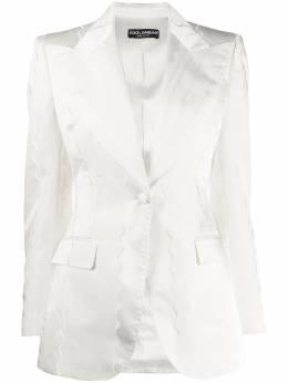 Dolce&Gabbana блейзер кроя слим F29DVTFRMBT