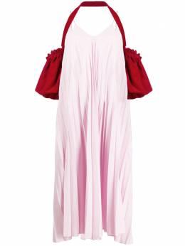 Atu Body Couture плиссированное платье Heart Leak ATS2020