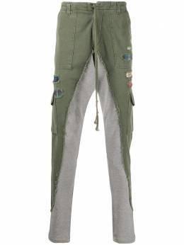 Greg Lauren брюки карго с контрастными вставками SS20M205