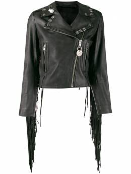 Diesel байкерская куртка с бахромой 00S48Y0CAXN
