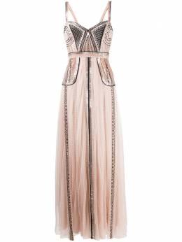 Temperley London платье Electra с бусинами 19WECE53197