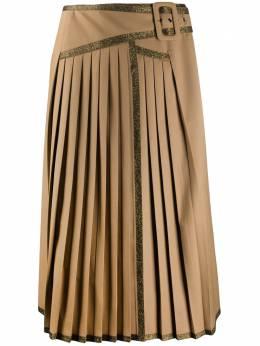 Marco De Vincenzo плиссированная юбка с контрастной окантовкой MQ5230