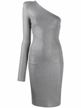 Alexandre Vauthier платье на одно плечо с кристаллами 193DR1128B