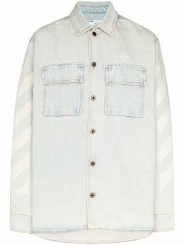 Off-White джинсовая рубашка оверсайз OMYD017R203860187101