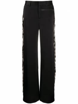 Monse широкие атласные брюки с бахромой MR200720CES
