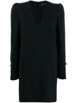 Versace платье-трапеция с декором Medusa и декоративной булавкой A85100A224249