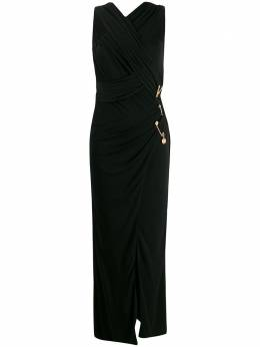 Versace платье с перекрестными бретелями A84412A208595