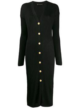 Versace трикотажное платье миди A85084A233108