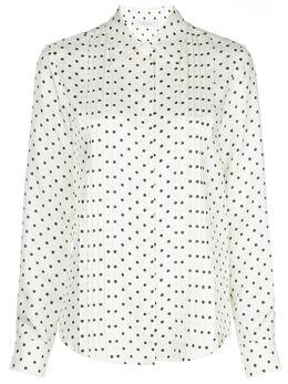 Gabriela Hearst плиссированная блузка в горох 320103P009