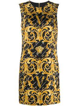Versace платье с принтом GV Virtus Barocco A85342A232981