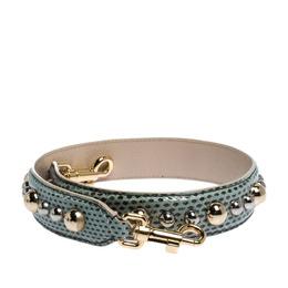 Dolce&Gabbana Blue Snakeskin Studded Shoulder Bag Strap 284734