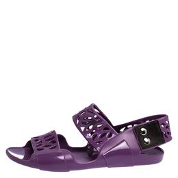 Marni Purple Jelly Slingback Sandals Size 36 282522