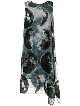 Y's платье миди без рукавов с принтом Moon YSD07227