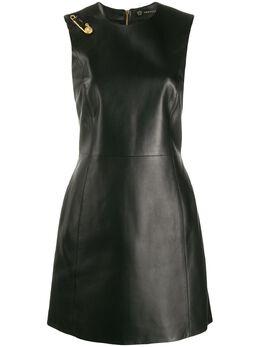 Versace платье без рукавов с декоративной булавкой A85808A210037