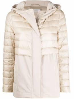 Peserico куртка с капюшоном и контрастными вставками S243302200A