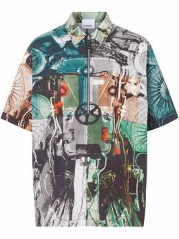 Burberry рубашка с принтом 8023938