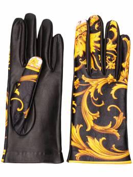 Versace перчатки с принтом Barocco IGU0004IP00113
