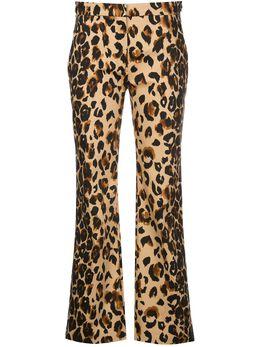 Mugler прямые брюки с леопардовым принтом 20R1PA0289