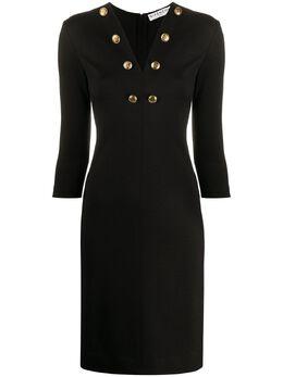 Givenchy приталенное платье с пуговицами BW20TV30GC