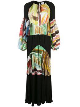 Rosie Assoulin платье макси Sutter с абстрактным принтом R201D19