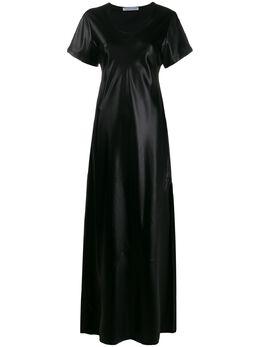 T By Alexander Wang расклешенное платье макси 4WC1206016