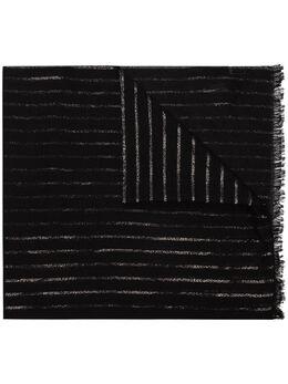 Saint Laurent полосатый шарф 6046924YD70