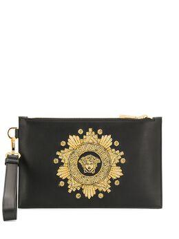 Versace клатч с вышивкой Medusa Head DP84725DRILE3