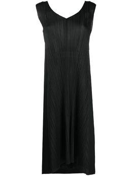 Pleats Please Issey Miyake плиссированное платье без рукавов и завязками на спине PP06JH605