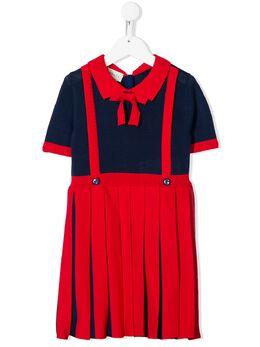 Gucci Kids платье с плиссированной юбкой 596245XKA6A