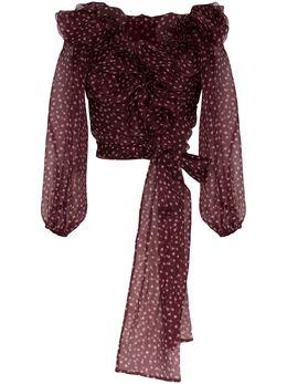 Dolce&Gabbana блузка в горох с оборками F74D7TIS1BX