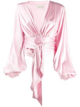 Alexandre Vauthier блузка с поясом 201TO11510145
